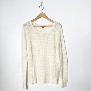 Vince crew neck cashmere blend knit sweater